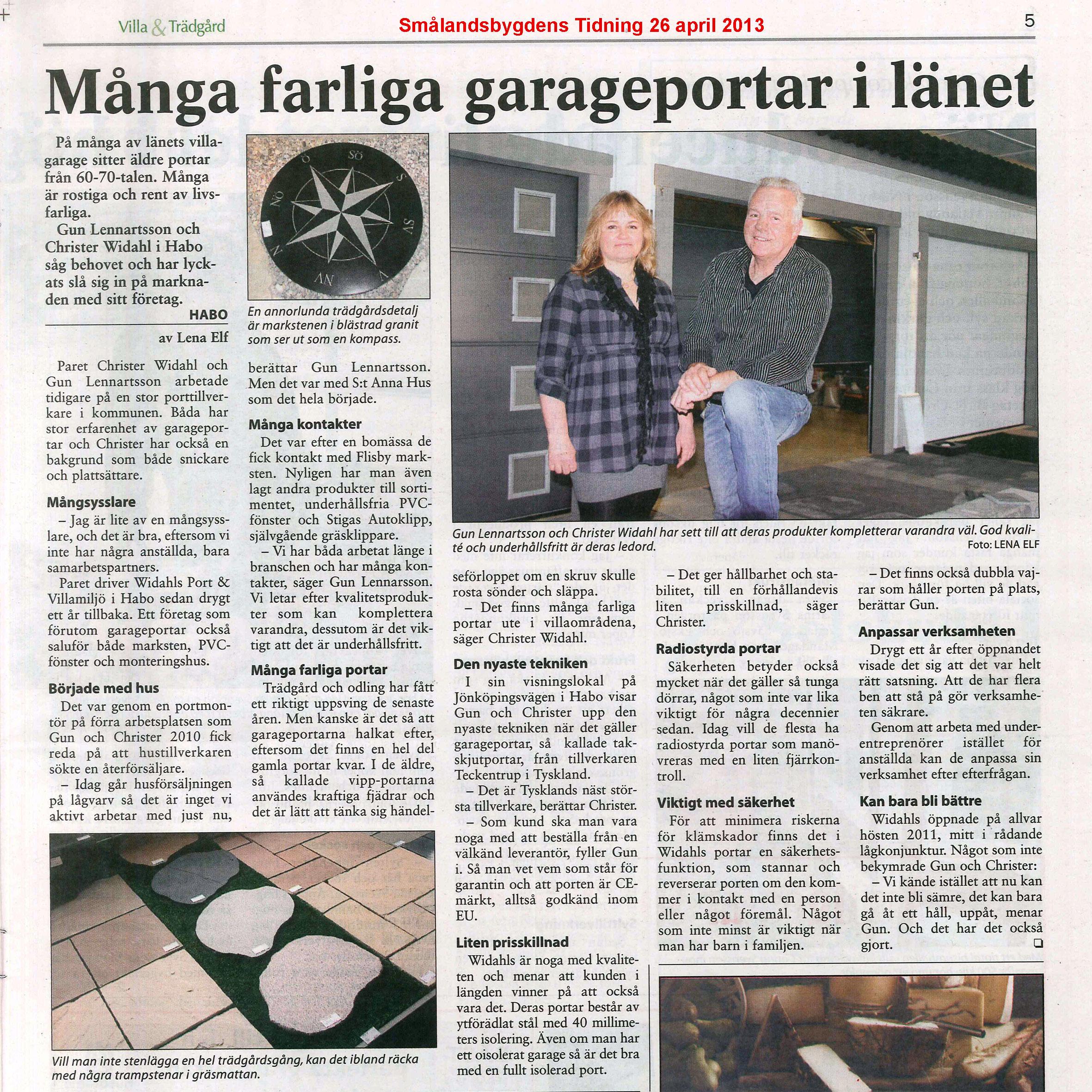 Många farliga garageportar