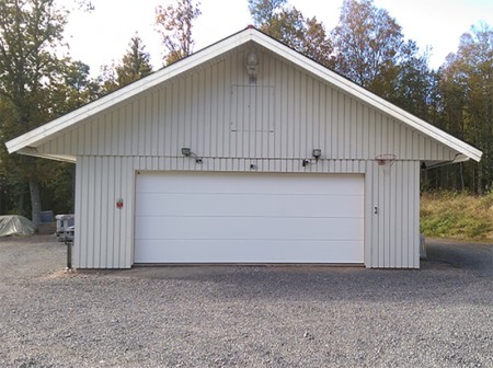 Extra bred garageport
