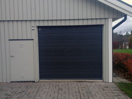 Garageport-grafitgrå