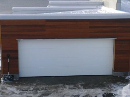 Garageport Teckentrup slätpanel, vit