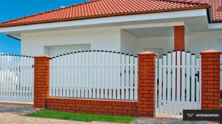 Vitt staket enkelgrind